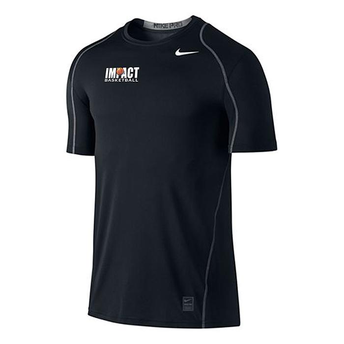 Nike dri fit t shirt short sleeve impact basketball for Nike short sleeve shirt