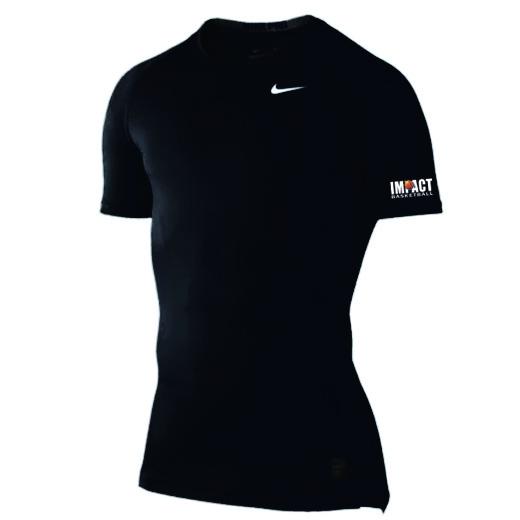 Nike compression shirt short sleeve impact basketball for Nike short sleeve shirt