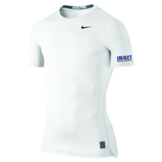 nike compression shirt short sleeve impact basketball. Black Bedroom Furniture Sets. Home Design Ideas