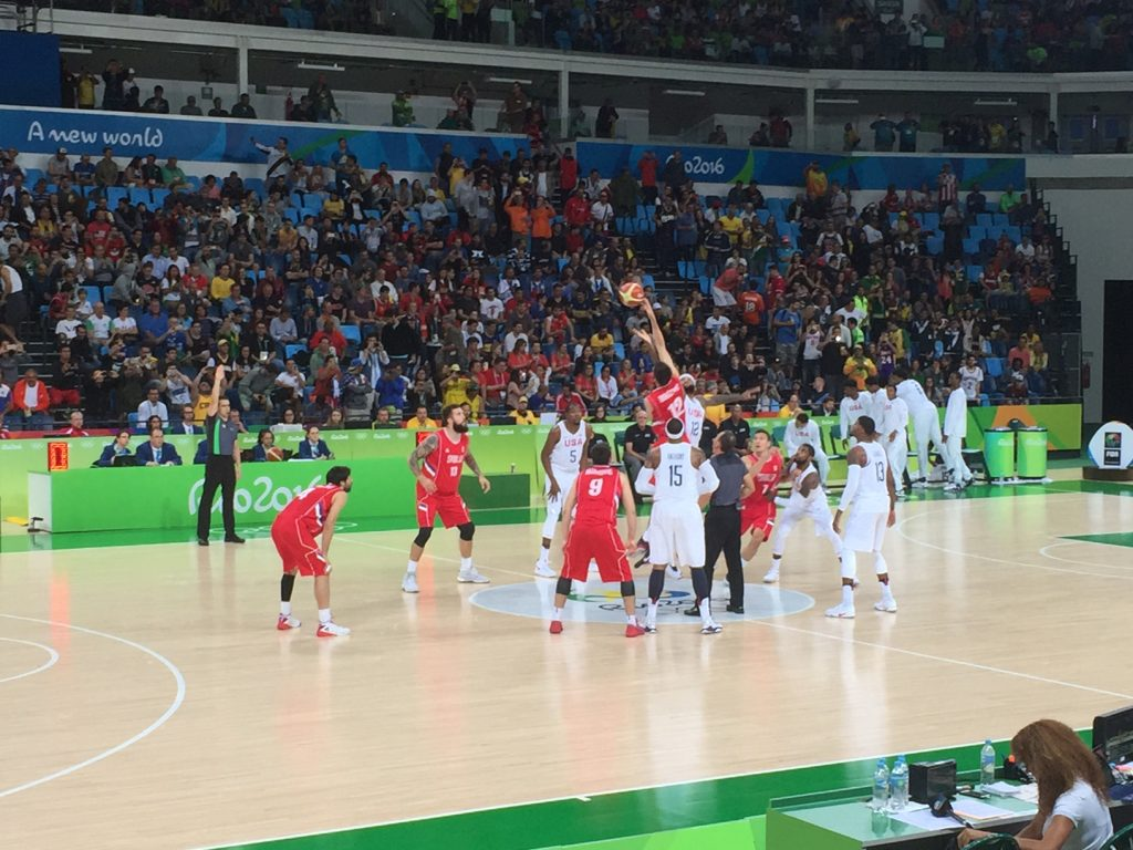 Team USA Mens Basketball at Rio for the Olympics from IMPACT Basketball's Drew Moore's seat.