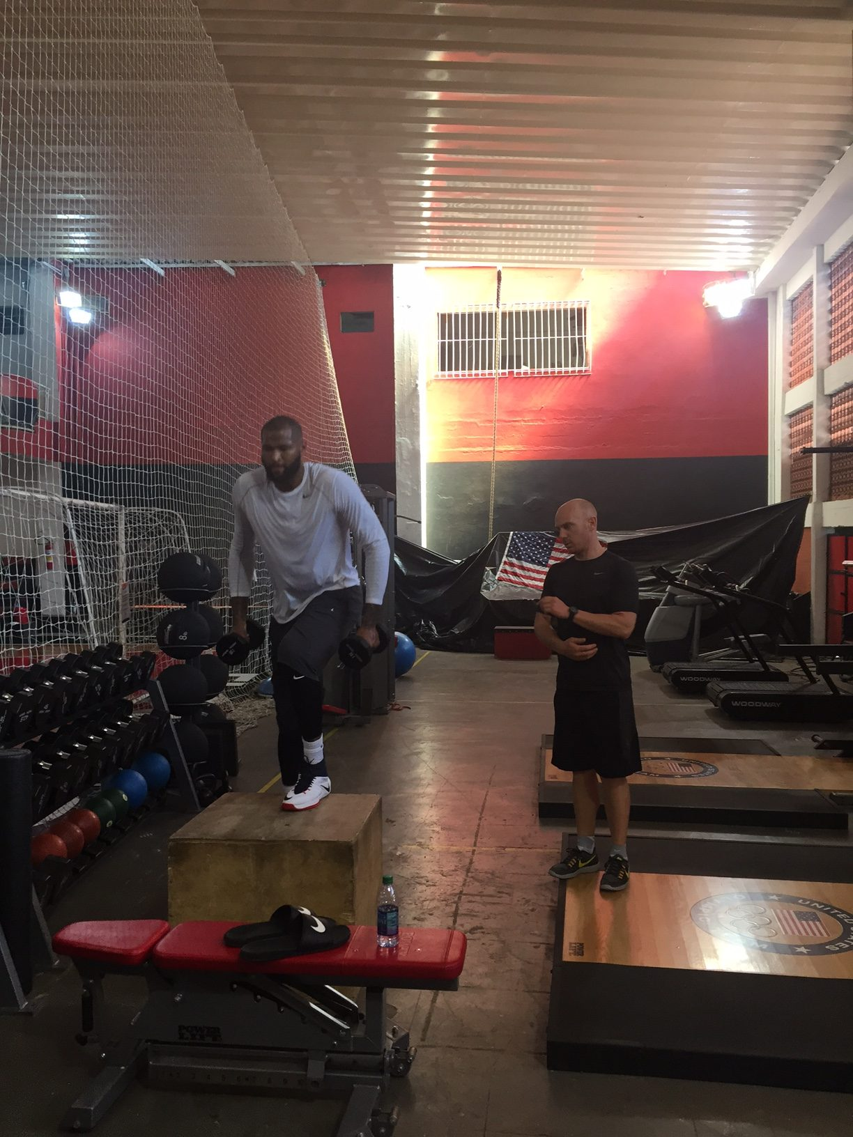 DeMarcus Cousins working out in Rio with IMPACT's Drew Moore.